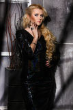 Frauen-Mode-Schönheits-Porträt, vorbildliches Girl Hairstyle, blondes Haar Stockbilder