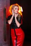 Frauen-Mode-Schönheits-Porträt, vorbildliches Girl Hairstyle, blondes Haar Lizenzfreies Stockfoto