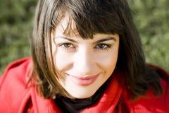 Frauen-nahes hohes Portrait Stockbild