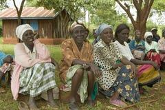 Frauen ohne Ehemannfrauen, die von der Gesellschaft verbannt worden sind, oder die ihre Ehemänner verloren haben und haben selbst Lizenzfreie Stockfotografie