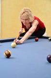 Frauen-Pool-Spieler Lizenzfreies Stockbild