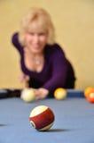 Frauen-Pool-Spieler Lizenzfreie Stockfotos