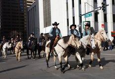 Frauen-Reiter in der nationalen westlichen Show-Parade auf Lager Stockbild