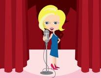 Frauen-Sänger stock abbildung