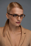 Frauen ` s Glas-Art Schönheits-in Mode optischer Rahmen Lizenzfreie Stockbilder