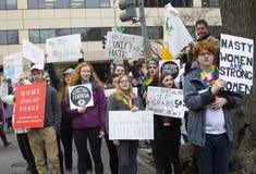Frauen ` s März auf Washington Stockfotografie
