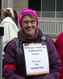 Frauen ` s März auf Washington lizenzfreies stockbild