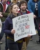Frauen ` s März auf Washington Stockfotos