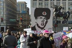 2018 Frauen ` s März in Chicago Stockbilder