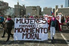 2018 Frauen ` s März in Chicago Lizenzfreies Stockfoto