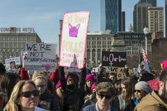 2018 Frauen ` s März in Chicago Lizenzfreie Stockfotografie