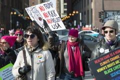 2018 Frauen ` s März in Chicago Lizenzfreie Stockbilder