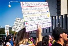 2018 Frauen ` s März in Santa Ana, Kalifornien Stockfotografie