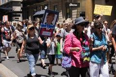 Frauen ` s März, Sydney - Australien Lizenzfreie Stockfotografie