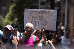Frauen ` s März, Sydney - Australien Lizenzfreies Stockfoto