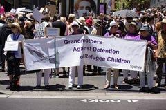 Frauen ` s März, Sydney - Australien Lizenzfreie Stockbilder