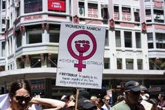 Frauen ` s März, Sydney - Australien Stockbild