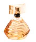 Frauen ` s Parfüm in der schönen Flasche lokalisiert auf Weiß Stockfoto