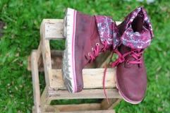 Frauen ` s Schuhe für Mode und Arbeit Stockfoto