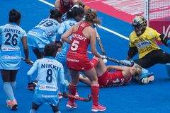 Frauen ` s Welthockey-Cup 2018 lizenzfreies stockfoto