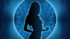 Frauen-Schattenbild Stockbilder