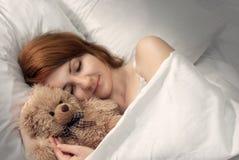 Frauen schlafend Stockbild