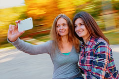 Frauen selfie Stockfoto