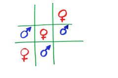 Frauen sind von Venus und von den Männern von Mars Lizenzfreies Stockbild