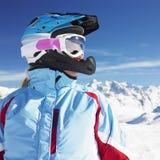 Frauen-Skifahrer Lizenzfreies Stockfoto