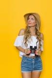 Frauen-Touristen-Aufpassen Stockbilder