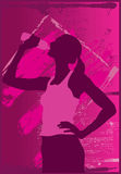 Frauen-Trinkwasser lizenzfreie abbildung