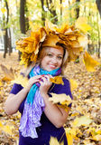 Frauen und Herbst Lizenzfreie Stockfotos
