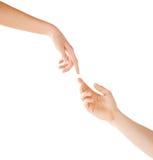 Frauen- und Mannhände Lizenzfreies Stockbild