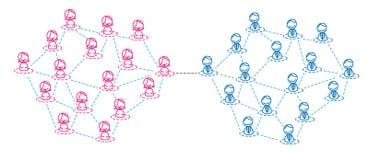 Frauen- und Mannnetz Vektor Abbildung
