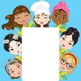 Frauen und Mimose Stockfoto