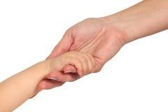 Frauen- und Schätzchenhände Lizenzfreies Stockbild
