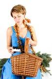 Frauen- und Weihnachtsgeschenk Lizenzfreies Stockfoto