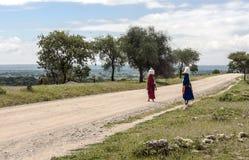 Frauen unterstützen mit Taschen Lizenzfreies Stockbild
