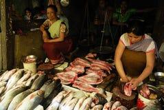 Frauen vermarkten in Indien Lizenzfreies Stockfoto