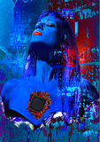 Frauen vom digitalen Inneren Stockfoto