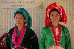 Frauen von Myanmar im traditionellen Kostüm Stockbild