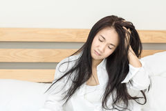 Frauen wachen auf Stockfoto