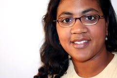 Frauen-Weiß-Hintergrund Lizenzfreies Stockbild