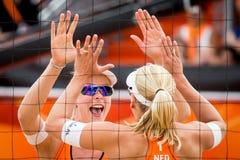 Frauen-Weltcupstrand Jantine van Der Vlist volleybal Lizenzfreies Stockbild