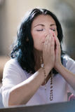 Frauenabbildung Beten Lizenzfreies Stockfoto
