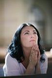 Frauenabbildung Beten Lizenzfreies Stockbild