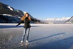 Frauenabbildung Eislauf Stockbild