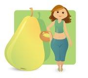 Frauenabbildung Typen: süße Birne lizenzfreies stockbild