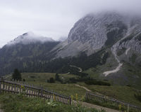 Frauenalplspitz. Hiking through the Bavarian Alps of Southern Germany stock photography