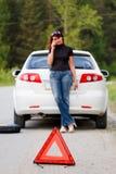 Frauenaufrufe zu einem Service Lizenzfreies Stockfoto